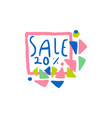 sale 20 percent off logo special offer label vector image