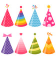 birthday party hats set vector image