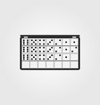 game domino playing vector image