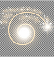 spiral with particle dust golden color vector image