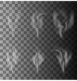 modern smoke set on gray vector image