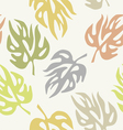Abstract leaves on a seamless pattern wallpaper vector image vector image