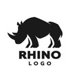 african rhino silhouette logo symbol vector image vector image