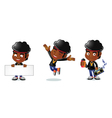 Afro Guy 1 vector image vector image