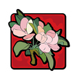 apple tree flower vector image vector image