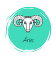 aries astrology element for horoscope zodiac sign vector image