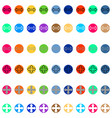 arrows in round different color vector image vector image