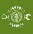 auto repair service vector image vector image