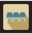 Background of hall at airport icon flat style vector image vector image