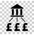 bank pound payments icon vector image vector image