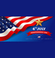 banner flag united states independence vector image