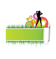 beautiful and sexy girl on the grass vector image vector image