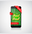 best deal banner smartphone offer design vector image vector image