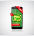best deal banner smartphone offer design vector image