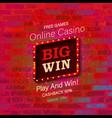big win casino banner vector image vector image