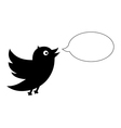 Black bird with speech bubble vector image vector image