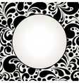 black curves circle2 vector image vector image