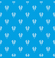 boer drill pattern seamless blue vector image vector image