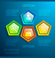 business digital infographic concept vector image vector image