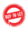 buy-to-let rubber stamp vector image