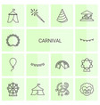 carnival icons vector image vector image