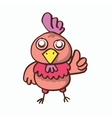 Cartoon chicken pose for T-shirt design vector image vector image