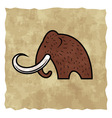 Cartoon mammoth vector image vector image