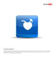 coconut icon - 3d blue button vector image