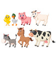 collection of the livestock animals vector image vector image