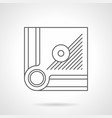 corner of billiard table flat line icon vector image vector image