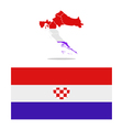 Croatia map with regions vector image