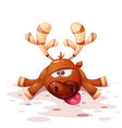 cute funny crazy cartoon deer vector image