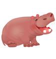 cute laughing hippopotamus vector image vector image