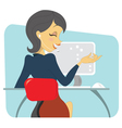 Dark haired women professional on the phone vector image