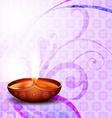 diwali festival diya vector image vector image