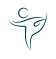 Emblem Yoga pose isolated on white vector image vector image