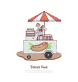 fast meal sale business seller cooking tasty vector image