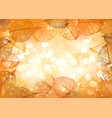 festive background of autumn leaves vector image vector image