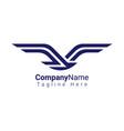 flat bird logo plane logo for travel agency vector image