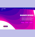 fluid colorful shapes website template trendy vector image vector image