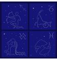 Four Zodiac signs Sagittarius Capricorn Aquarius vector image vector image