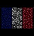 french flag mosaic of mining hammers items vector image vector image