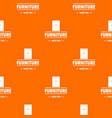 furniture cabinet pattern orange vector image vector image