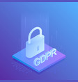 gdpr general data protection regulation vector image