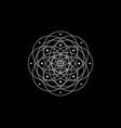 geometric mystic mandala sacred geometry flower vector image vector image