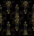 gold cherry flowers seamless pattern vector image vector image