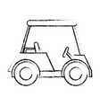 golf car isolated icon vector image vector image