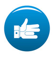 hand abstract icon blue vector image