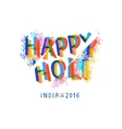 Happy Holi celebration creative flyer vector image