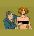 harassment male businessman groping a woman vector image vector image